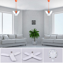 Mini Folding LED Bulb E27 B22 Led Lamp Ceiling Fan Led Light AC220V Foldable Fan Blade Angle Adjustable For Home Garage Lighting
