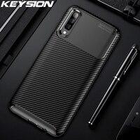KEYSION-funda de silicona de fibra de carbono para Samsung Galaxy, funda para Samsung A70, A50, A30, A20, A10, A40, 10s, 20s, S9