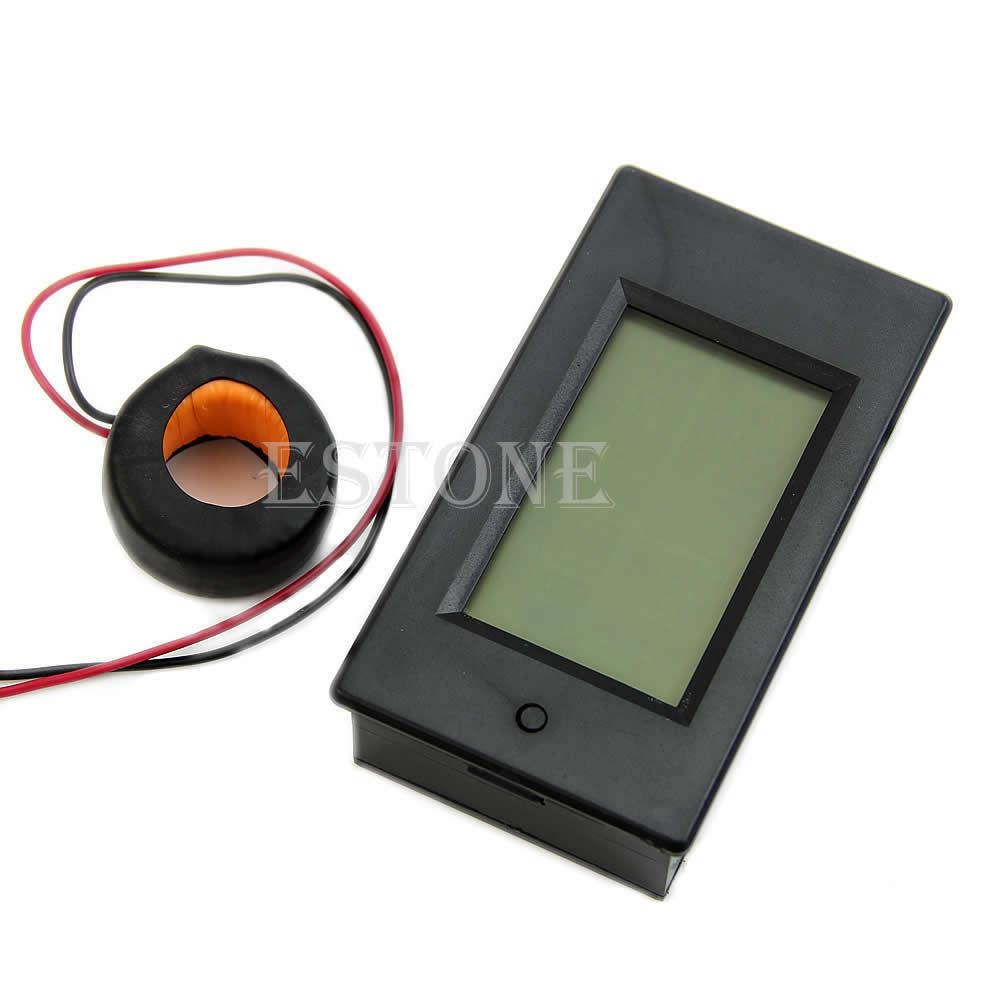AC 100A LCD digitális voltos teljesítménymérő ampermérő ampermérő voltmérő 110 V 220 V új csepphajó-támogatás