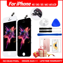 AAA+++ Quality Display For iPhone 4s 5 5se 6 6s LCD With Force Touch Screen Digitizer Assembly Replacement 100% No Dead Pixel a no dead pixel for iphone 5 5s 5c 5se lcd display touch screen digitizer assembly black