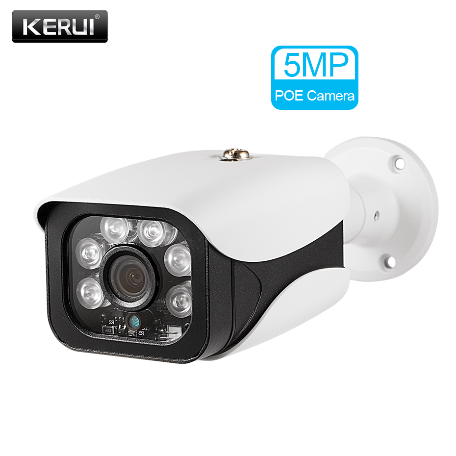 KERUI 5MP Wireless Home Security POE RJ45 Camera Outdoor IR-CUT Network CCTV Video Surveillance for 4CH/8CH POE NVR Kits image