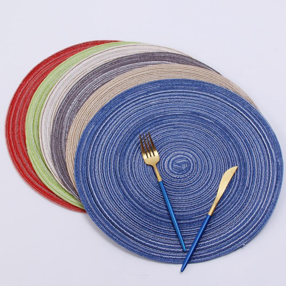 Cotton Yarn Round Table mat Waterproof Dining Tableware Mat Non Slip Napkin Bowl Pads Drink Cup Coasters Kitchen Accessories Mats & Pads  - AliExpress