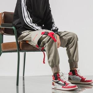 Image 4 - SingleRoad Mens Cargo Pants Men Hip Hop Japanese Streetwear Ribbon Pants Men Mens Trousers Joggers Male Fashion Sweatpants Man