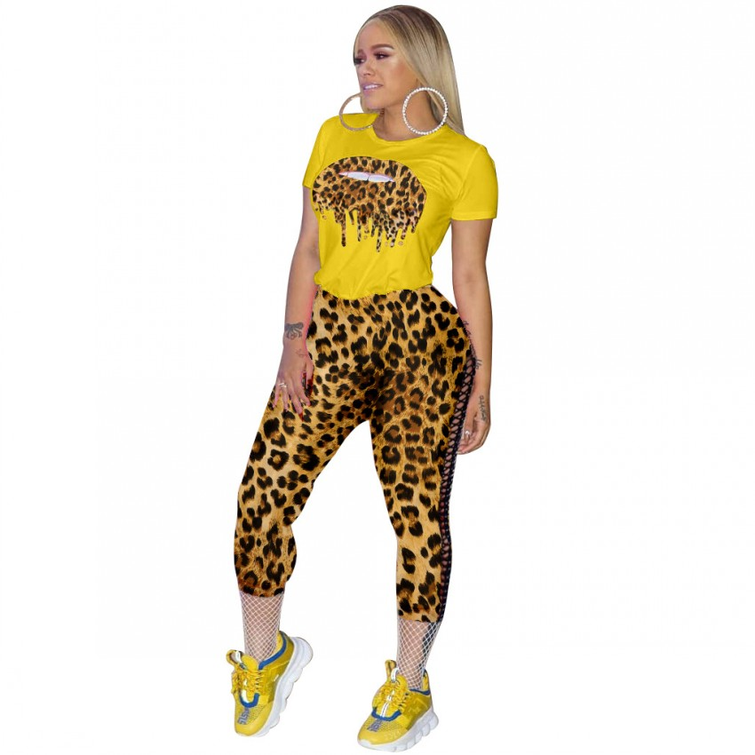 2019 Autumn Winter Tracksuit Leopard Print Women Set Outfit Fashion Sexy Two Pieces Suits Casual Overalls Jumpsuits