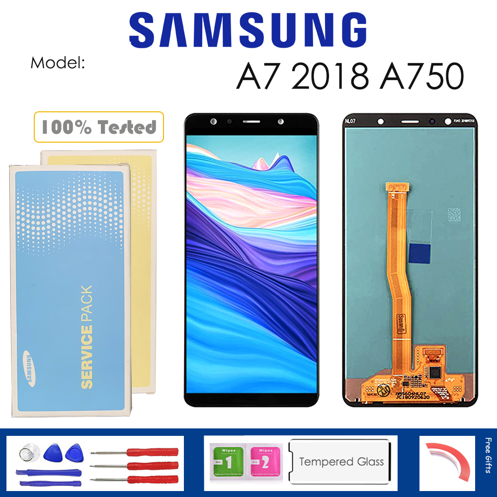 For <font><b>Samsung</b></font> Galaxy A7 2018 <font><b>A750</b></font> <font><b>LCD</b></font> Display With Touch Sensor Glass Digitizer Assembly with kit image