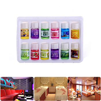 12 Bottles/Pack Natural Plants Fragrance 3ml Essential Oil Water soluble For SPA Aromatherapy Humidifier Perfume Purifying Air 1