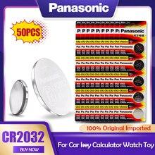 Panasonic – batterie Lithium 3V CR2032 CR 2032, 50 pièces, pour montre, calculatrice, jouet, balance électronique, pile bouton de télécommande