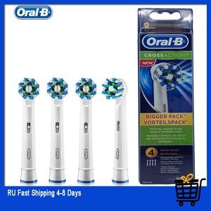 Image 1 - Oral Bเปลี่ยนหัวแปรงสีฟันไฟฟ้าCROSS Action 16 องศาคราบกำจัดOriginal OralB EB50 ฟันหัวแปรง 4 ชิ้น/แพ็ค