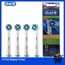 Oral B Vervangbare Elektrische Tandenborstel Heads Cross Action 16 Graden Vlekken Verwijdering Originele Oralb EB50 Tanden Borstel Hoofd 4 stk/pak
