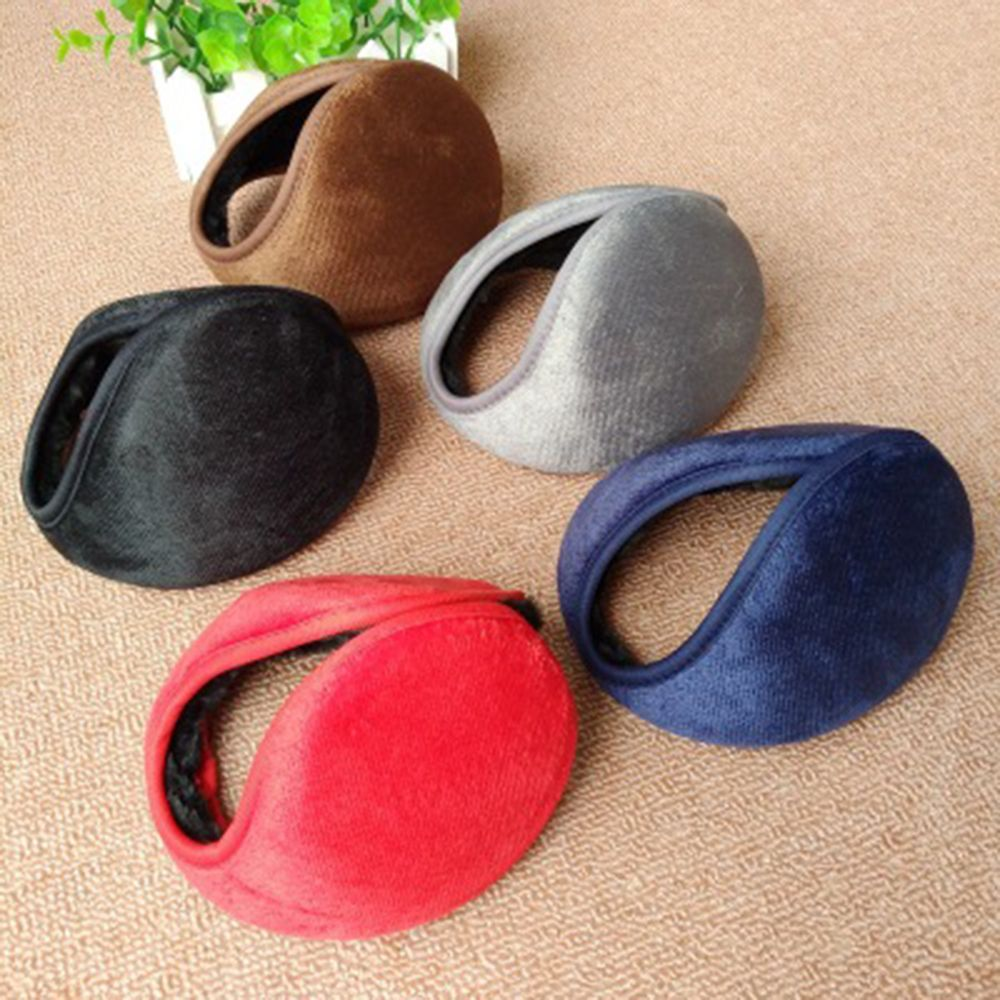 Winter Ear Muffs Ear Warmers Fleece Earwarmer Mens Womens Behind The Head Band Plush Cover Earwarmers