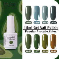 Arte Clavo Gel Nail Polish Green Vernis Primer Gel Polish Led Vernis Semi Permanant UV Gel Nail Art 15ml Soak Off Base Top Coat