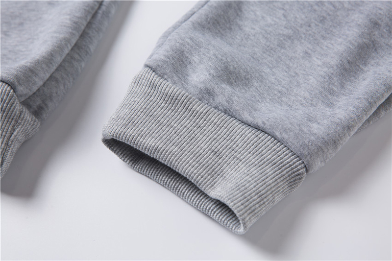 Cute women's hoodie autumn/winter 19 gold size black, white and grey loose wool thick knit sport thickening thermal pants 31