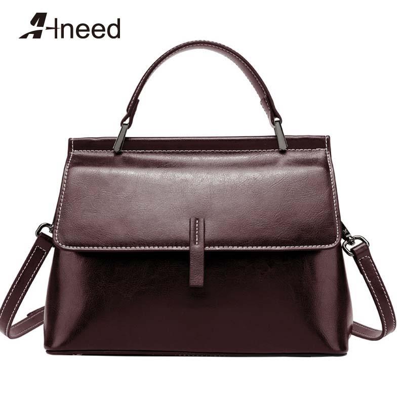 ALNEED Luxury Handbags Women Bags Designer 2019 New Quality Genuine Leather Shoulder Bag Ladies Crossbody Clutch