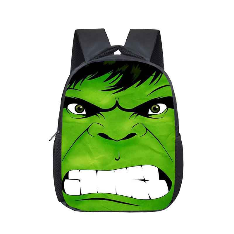 12 Inch Superhero Hulk Thor Iron Man Kindergarten Backpack Kids School Bags For Boys Toddler Backpacks Children Bookbag