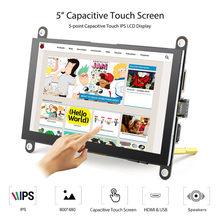 Elecrow Neue Version 5 inch Tragbare Monitor 800x480P HD LCD Display Kapazitiven Touchscreen Display-H für raspberry Pi 4 Bildschirm