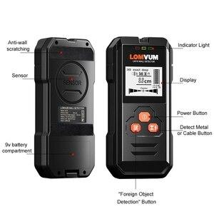 Image 2 - Lomvum Multi Functionele Digitale Metalen Muur Detector Bedrading Hout Ac Voltage Live Handheld Lcd scherm Stud Finder