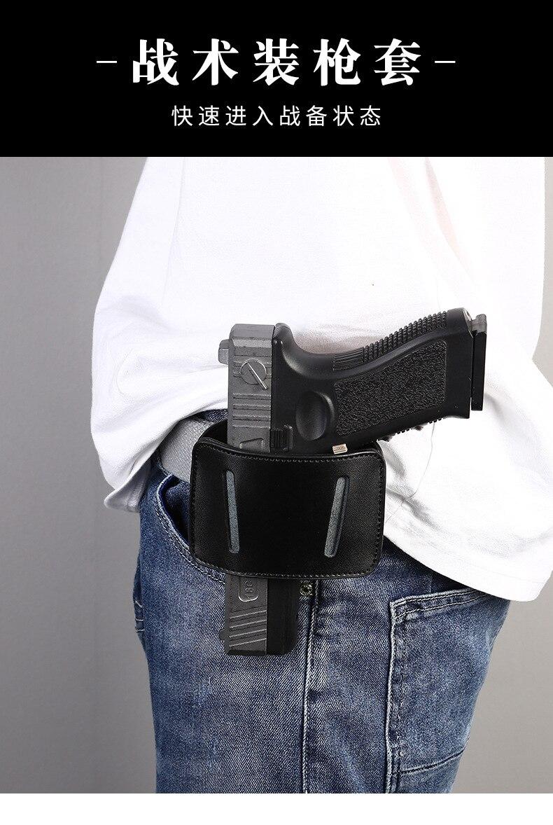 couro pistola cinto bolsa caça saco de