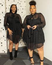 Plus Size XL-5XL 2020 Summer Mini Dress Women Full Sleeve Mesh Bodycon Night Club Party Bandage Street Dresses Vestidos GL5071