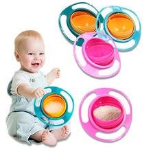 Universal girando tigela criativa 360 girar à prova de derramamento comida para bebê louça crianças comer formação tigelas alimentação pratos de aprendizagem