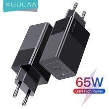 Chargeur rapide KUULAA GaN 65W USB C 4.0 3.0 QC4.0 PD3.0 PD USB-C Type C chargeur rapide USB pour Macbook Pro iPhone Samsung