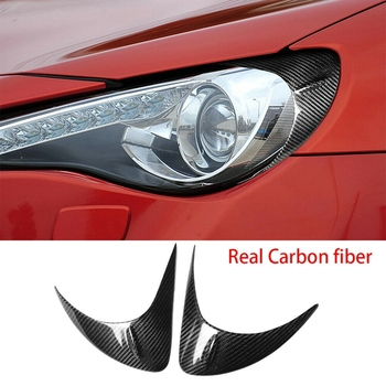 Carbon Fiber Front Headlight Eyebrow Cover for Toyota GT86 Subaru BRZ 2012-2016 image
