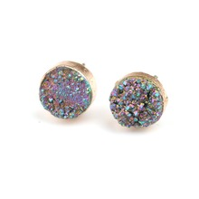 New Hot Wholesale Natural Lucky Handmade Stone Earrings Jewelry Fashion Crystal Ear Studs for Girls Friends Party Wedding