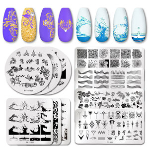 Image 1 - PICT YOU Rose Flower Series Stamping Plates Stainless Steel Nail Image Plate Stamp Template idea nail Plate