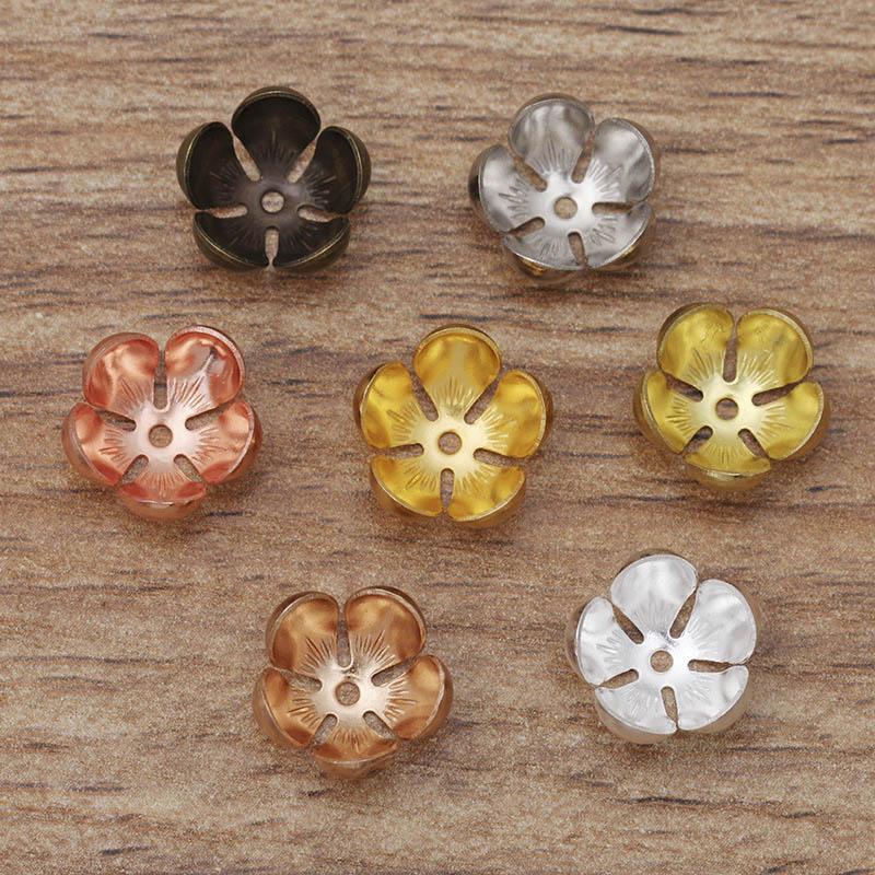 Plata Pequeño Flor Rosa Colgantes Conectores 10x18mm 30 un - rosa flor encantos