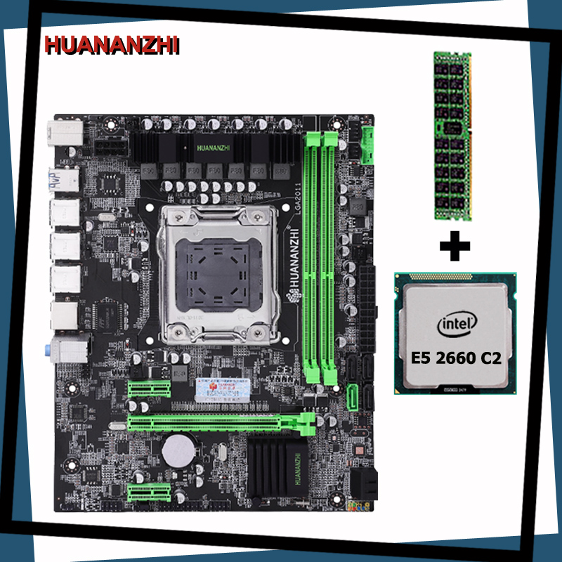Computer DIY HUANANZHI X79 LGA2011 motherboard CPU RAM combos <font><b>Intel</b></font> <font><b>Xeon</b></font> E5 <font><b>2660</b></font> SROKK (1*8G)8G memory DDR3 RECC all are tested image