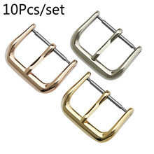 10PCS/Set Watch Pin Buckle Watchbands Replacement Silver Black Rose Gold Accessories 8mm 10mm 12mm 14mm 16mm 18mm 20mm 22mm