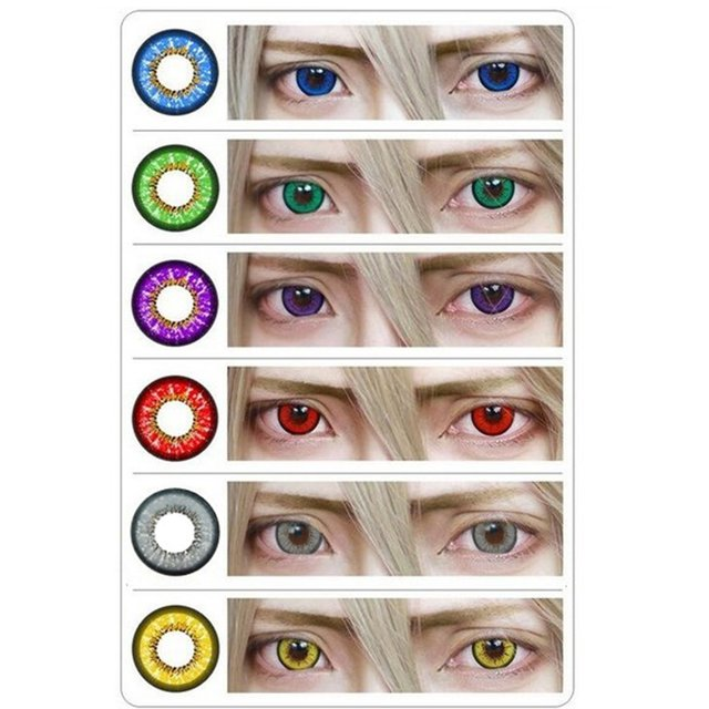One Pair/set Charming Eyes Unisex Coloured Circle Big Eye Beauty Contact Lenses Cosmetic Beauty Tool Contact Lenses Eye Wear 2
