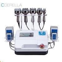 Máquina de cavitación de ultrasonido 6 en 1, 40K, vacío, 8 almohadillas, Lipolaser, adelgazamiento, pérdida de peso, rejuvenecimiento de la piel, SPA de belleza