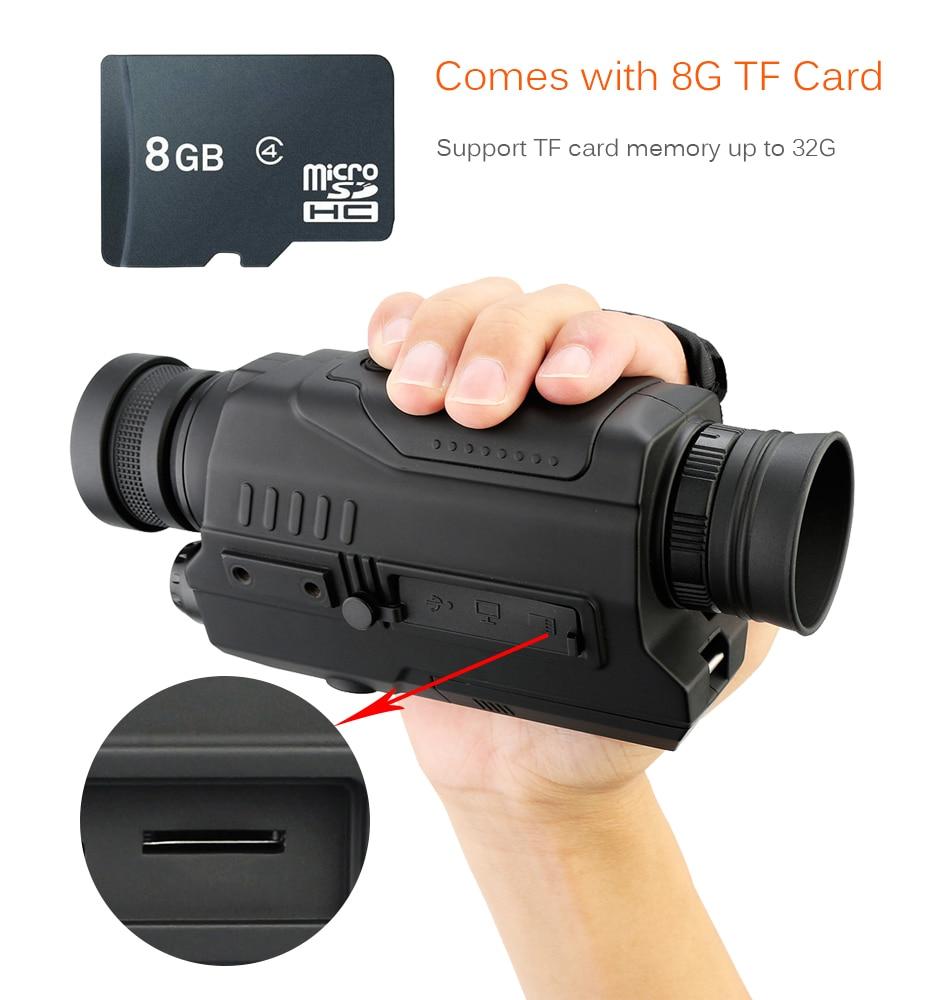Svbone 5x32 Vision nocturne monoculaire numérique 0.3 mégapixels CMOS 1.5 écran LCD dispositif infrarouge chasse jumelles télescope - 6
