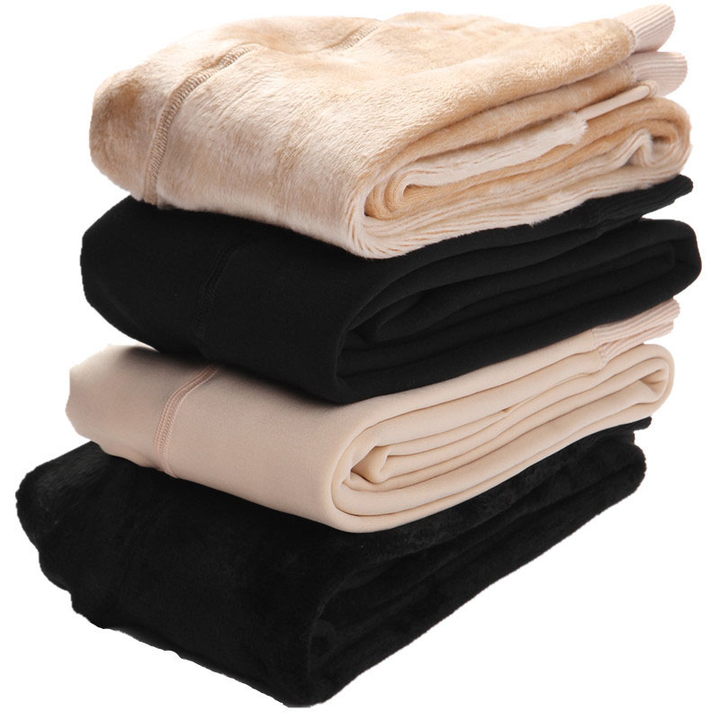 2019 Plus Thick And Fluffy Autumn Winter Women   Leggings   Warm Lean Skin Color Light Legs Artifacts Black Nude Color   Leggings