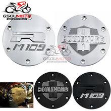 Piezas de la motocicleta Accesorios negro fundas de Derby del estator del motor para Suzuki Boulevard M109R VZR1800 intruso M1800R 2006-2019