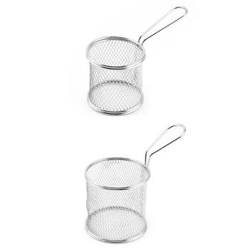 Mini frytki frytki kosz do serwowania frytownice do żywności głęboki filtr do smażenia nietoksyczny F19B tanie i dobre opinie CN (pochodzenie) Colanders i filtry iron