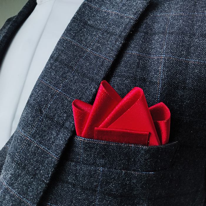 Handmade Pocket Towel Men's Formal Wear Wedding Suit Accessories British Polyester Square Scarf Brooches