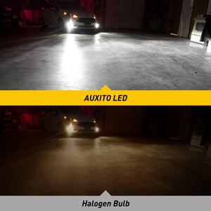 Image 3 - AUXITO 2X H11 żarówki LED światła przeciwmgielne H8 H9 H16 JP LED CSP 6000k biały/3000k złoty żółty 12V 24V DRL samochód do jazdy dziennej lampa samochodowa