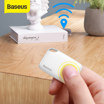цена на Baseus Mini Bluetooth Smart GPS Tracker Car Tracker Key Finder Bag Wallet Anti Lost Car Tracker GPS Locator Alarm Animal Dog Tag