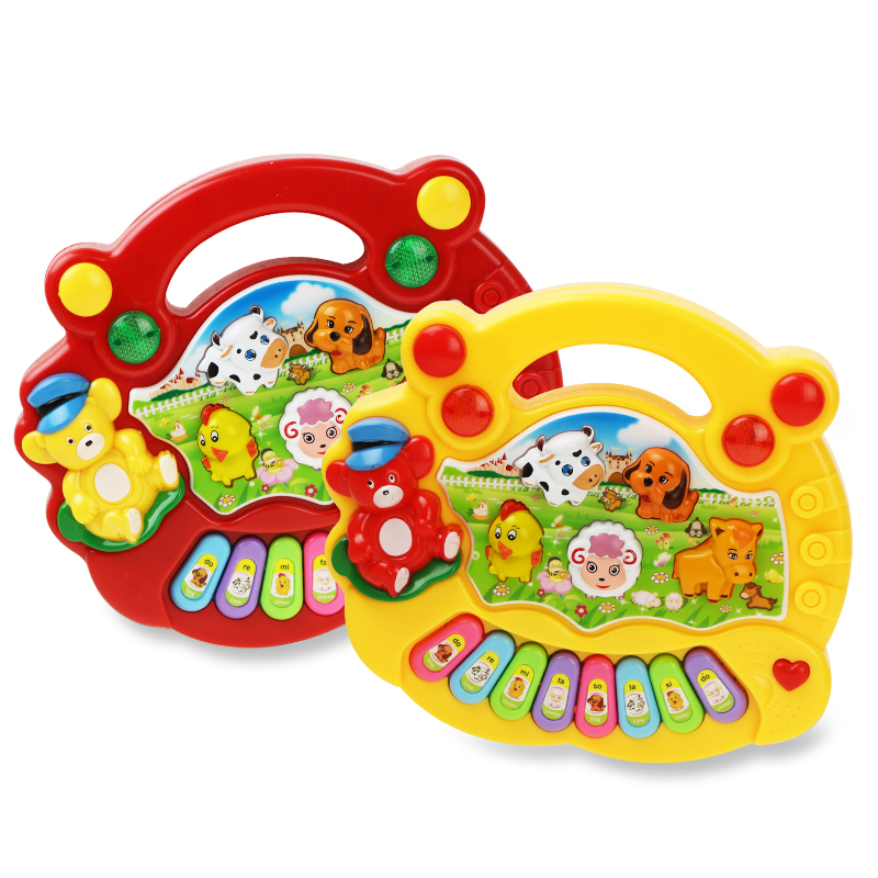Baby Musical Toy With Animal Sound Kids Piano Keyboard Electric Flashing Music Instrument Early Educational Toys For Children