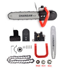 TRANVON Chainsaw Bracket Angle Grinder Into Chain Saw Electric Saw Tools Wood Cutting power tools
