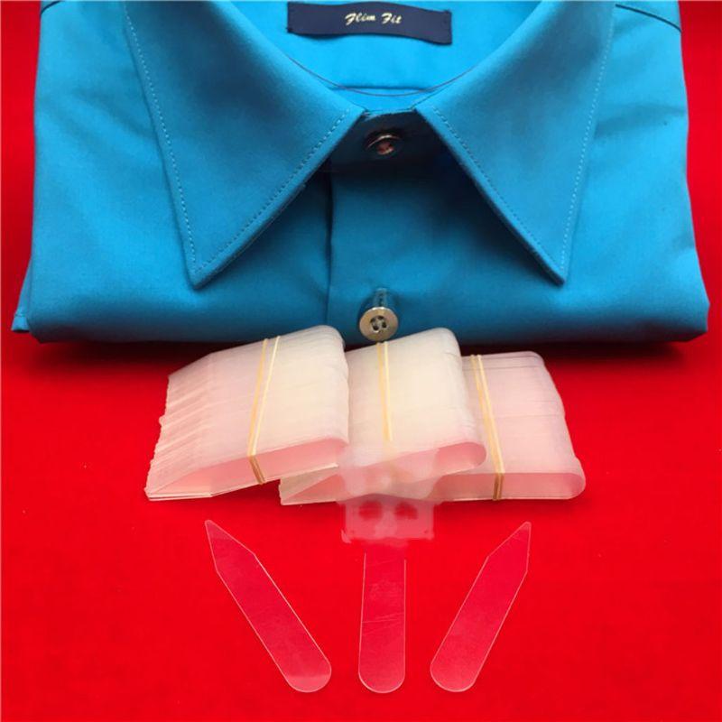 200Pcs Plastic Collar Stays Stiffeners Stay Bones Shirt Men's Clear Collar Stays PXPB
