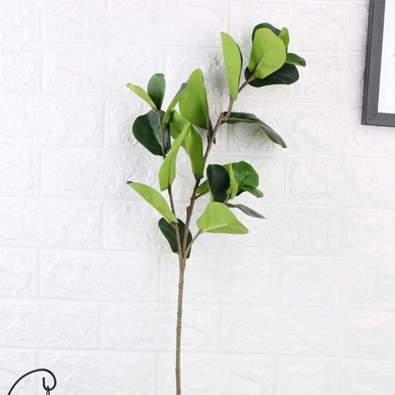 122cm grand Ficus artificiel arbre branche Faux plantes vertes feuilles de palmier Tropical arbuste Faux caoutchouc arbre pour la maison automne décoration