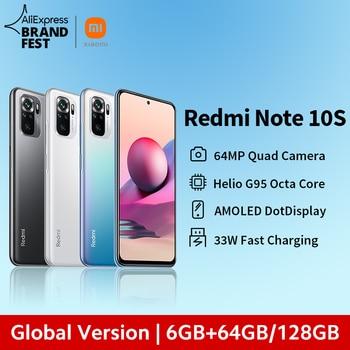 "[World premiere] versão global xiaomi redmi note 10s smartphone 64mp quad camera helio g95 6.43 ""amoled dotdisplay 5000mah 33w 1"
