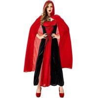 New cosplay new Halloween costume Nightclub Queen Vampire cosplay suit Red black cloak Little Red Riding Hood costume