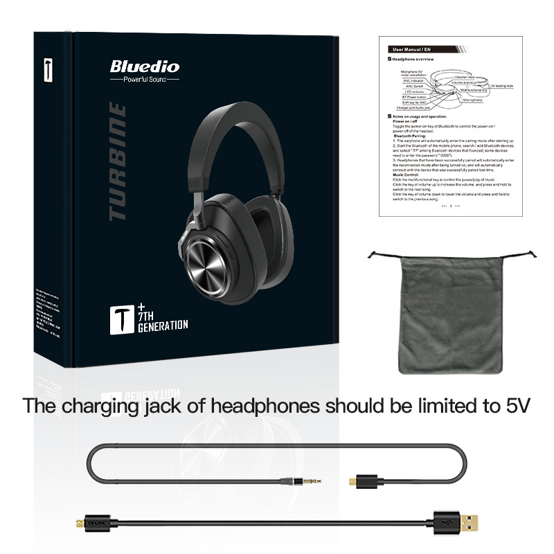 Image 5 - Bluedio T7 Plus Bluetooth Headphones User defined Active Noise Cancelling Wireless Headset for phones support SD card slot-in Phone Earphones & Headphones from Consumer Electronics