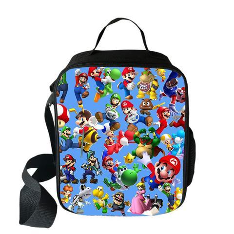 Bolsa dos Desenhos Bolsas de Piquenique Portátil para a Escola Anime Mario Bros Sonic Cooler Almoço Animados Meninas Comida Térmica Crianças Meninos Lancheira Tote
