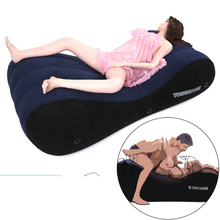 Inflatable Erotic Love Chair Sofa Bed Home Furniture Sexy Lovers Passion Chaise Sofas Bean Bags For Adults With Handcuffs Gift стоимость