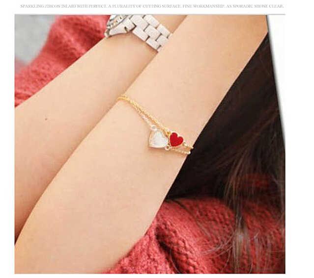 SL077 bijou breloque de mode Bracelet poivrons montrent la poursuite coeur de l'amour goutte à goutte émail Bracelets 2018 vente chaude