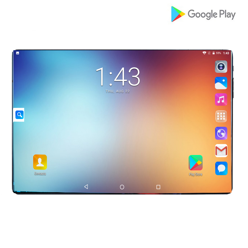 New Google Tablet 10 Inch Android 9.0 Octa Core 6GB RAM 64GB ROM 1280*800 IPS Kids Tablets PC 10 Google Play Dual SIM Card Pad